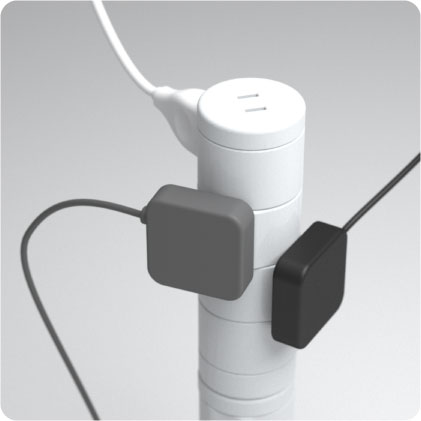 Large plugs can be plugged by simply rotating sockets.